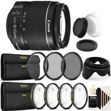 Canon EF-S 18-55mm f/3.5-5.6 IS II Lens + UV CPL Filter Kit for Canon T7 T7i T4i