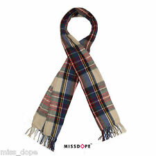 NEW TARTAN PLAID CASHMERE SCARF WINTER SHAWL STRIPES WARM THICK LONG WOMENS WRAP