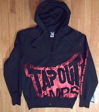Tapout Black & Red Full Zipper Hoodie Jacket Mens Size Medium NWT (H-47)