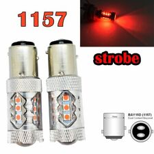 Strobe Brake Light 1157 2057 2397 3496 7528 BAY15D P21/5W 80W LED Red M1 GM MA