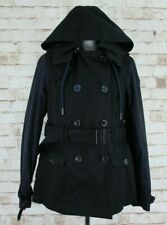 SUPERDRY Limited Black Double Breasted Pea Coat size L