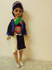 "Vintage Plastic Hmong Doll Made in China 15"" 60's"
