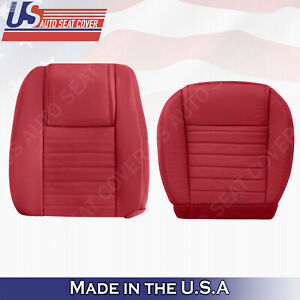 2005 2006 2007 2008 2009 Ford Mustang DRIVER set Bottom & Top Leather Cover RED