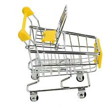 Cute Mini Shopping Handcart Cart Supermarket Utility Mode Storage Gift Toy