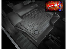 2017 F250 F350 F450 Tray Style Moulded Floor Mats 3 Piece Set Super Crew Cab