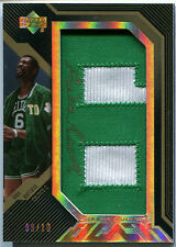 2007-08 UD Black BILL RUSSELL Jersey Numbers Gold Auto Patch RARE SP #/10