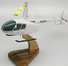 Robinson R-66 Trainer Helicopter Wood Model Replica Small Free Shipping