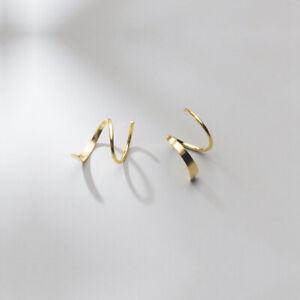 Ohrhänger Spirale echt Sterling Silber 925 Damen Ohrringe