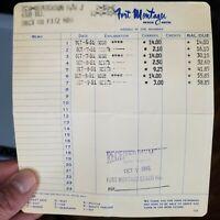 1961 Fort Montague Billhead Receipt Nassau In the Bahamas Beach Motel Q1
