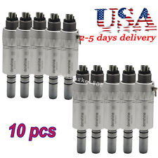 10X Dental Slow Low Speed Handpiece E-type Air Motor 4 Hole Long Life-Span-USA
