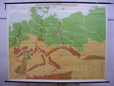 Schulwandkarte Wandkarte Germany Deutschland mit Grenzen 1937 Leinwand 208x161cm