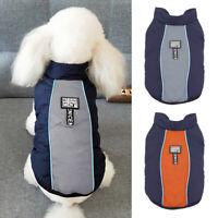 Hundejacke Hunde Winterjacke Fleece Hundedecke Mantel Grau Oder Orange S-2XL