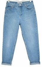 Topshop MOM High Waisted Vintage Blue Tapered Crop Jeans Size 10 W28 L30