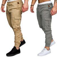 Jogger Pants Cargo Pants Slim Fit Urban Straight Leg Trousers Casual Men