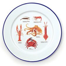 Sea Life Enamel Plates Set of 2 from the Ecologie Mare Vitae Range