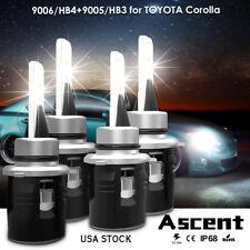 LED Headlight Kit Cree Lights H7 9005 HB3 Bulbs For Toyota Celica GT 2005-2003
