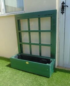Rustic Display Planter Crystal Green - Timber Wooden Pot Window Box