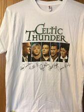 Celtic Thunder.  Fall Tour 2009 Shirt.   White.  L