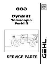 Gehl Dynalift 883 Telescopic Forklift Service Parts Manual 1999 7365