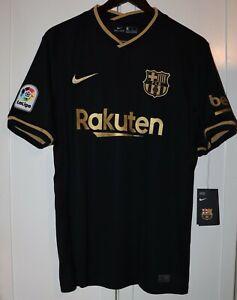 BNWT JERSEY SHIRT CAMISETA FC BARCELONA BARÇA NIKE AWAY 2020/2021 20/21 BLACK