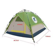 Green /Grey Double layer Easy-to-use Auto Pop-up Camping Tent for 3-4 Person