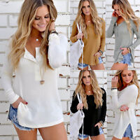 Womens Long Sleeve Knitted Jumper Sweater Ladies Casual Knitwear