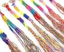 Wholesale Lots 10pcs Charm Braid Strands Friendship Cords Handmade DIY Bracelet