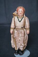 """Antique Middle East Cloth Man Doll 8"""" / 9"""" Hand made"""
