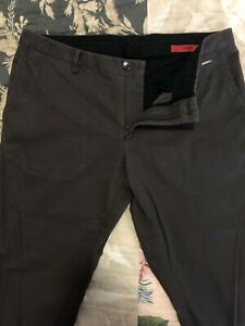 Men Hugo Boss Slim Cut Cotton Pants Size 32R IT48