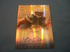 Manti Te'o Teo Rookie RC Prestige 2013 Extra Points Blue Autograph 37/50 258