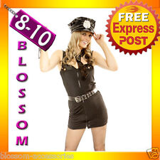 8360 Sexy Adult Police Cop Fancy Dress Costume S/M 8/10