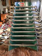 """Vintage Craftsman Box End Wrenches, 3/8"""" To 1 5/16"""", 11 Wrenches, W/ Display"""