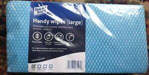 BRAND NEW IN PACKET 50 ROBERT SCOTT HANDY WIPES - LARGE & LIGHTWEIGHT