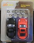 New Zip Zaps Porsche 911 Turbo Red & black Micro RC Body Kit with Wheels
