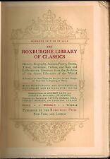 1904 Roxburghe Library Classics, 30 Volumes Complete Literature History Sciences
