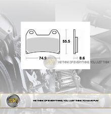 PER KTM SMC 625 DAL 2005 AL 2008 COPPIA PASTIGLIE FRENO ANTERIORI BRAKING SEMI M