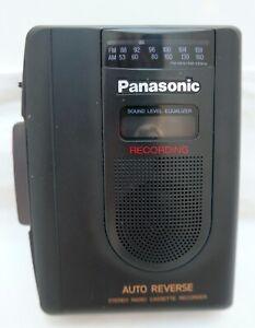 Panasonic RQ-A170 Auto-Reverse Stereo Radio Cassette Recorder w/Original Manual