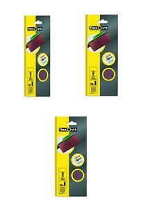 1/3 SANDING SHEET SANDPAPER ORBITAL SANDER 93x230mm x30 Sheets 60 GRIT FLEXOVIT