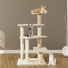 100CM Cat Tree Scratcher Play Climbing Post Kitten Pet Scratching Furniture