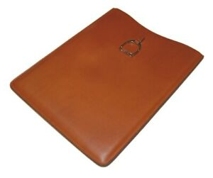 $395 Polo Ralph Lauren Equestrian Leather iPad Samsung Tablet Sleeve Brown Italy