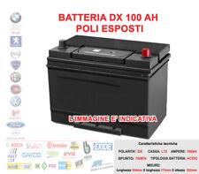 BATTERIA PER AUTO POSITIVO DESTRO DX 12V 100AH SPUNTO 800A POLI ESPOSTI = 95AH