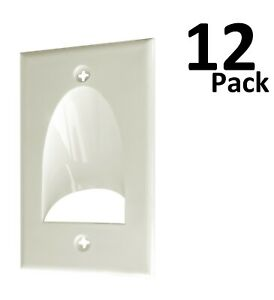 12 x 1-Gang Recessed Low Voltage Cable Pass Through Wall Plate - White