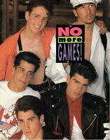 NEW KIDS ON THE BLOCK 1990 NO MORE GAMES TOUR CONCERT PROGRAM BOOK-EX TO NMT