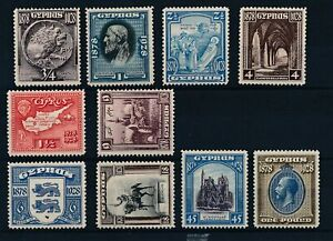 [56339] Cyprus 1928 Very good set MNH Very Fine stamps $350 value for MH