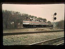 HD16 ORIGINAL TRAIN SLIDE ENGINE AMT AMTRAK Vermonter PALMER MA 269 curve