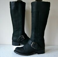 "CLARK`S ""ORINOCO JAZZ"" BLACK SNUFF LEATHER KNEE HIGH BOOTS UK 4 WIDE RRP £125.00"