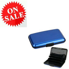 Hard Case Wallet Blue Aluminum Blocking Aluma Credit Cards Holders For Unisex