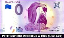 UE PK-1 / SEA LIFE - PARIS / BILLET SOUVENIR 0 EURO / 2019-1*