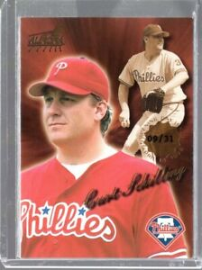 1999 Pacific Aurora Opening Day Issue Gold Stamp Curt Schilling #144 (09/31)