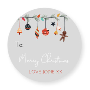 24 Personalised Christmas Labels Stickers Gift Labels Tags Present Wrapping